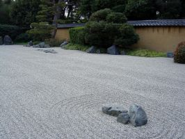 Japanese Gravel Garden by AndySerrano