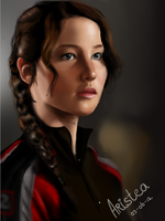 Katniss Everdeen, made by me. by Aristeaaa