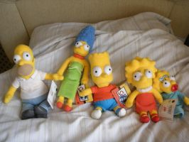 Simpsons Plushes by JimmyCartoonist