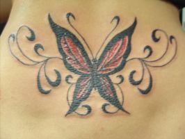 tramp stamp butterfly by MrEmO