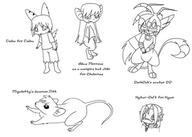10 sketch requests by kitsunekage