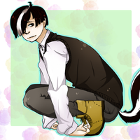 Louie my skunk character because i like skunks by PickledCandyPants07