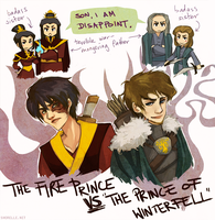zuko vs theon by shorelle
