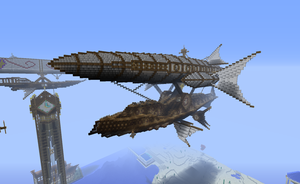 Minecraft Steampunk Airship by CW390