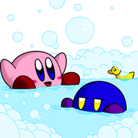 Kirby's Bubbles by FamoKrishina