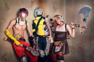 Borderlands Cosplay Family Photo by LABINNAK
