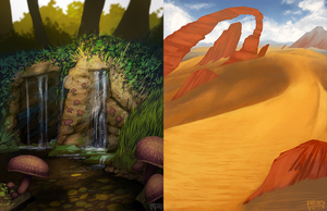 Landscape Sketch/Speedpaints by daPatches
