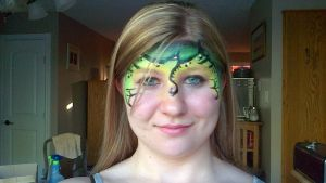 Dragon face paint :front view: by ColorfulCandie
