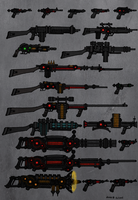 Tenebrean Weapons. Firearms Sheet by TenebraesRising