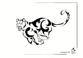 Lioness Tattoo design by A-shanti