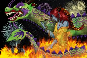 Shyvana the Half Dragon by RancidAlice