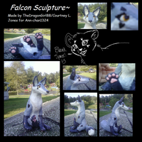 Falcon Sculpture by seerterezipyrope