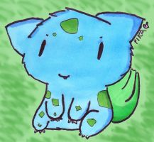 001- Bulbasaur by FringedPikaa