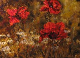 poppies and camomiles by ENERGIA1