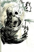 Dead spaceman skull by GreenMind-Dead