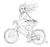 le velo - sketch by Konstance