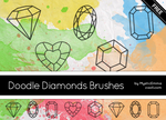 Doodle Diamonds Brushes by MysticEmma