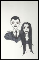Gomez and Morticia - The Addams Family by Sarah-Vafidis