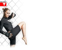 Ronda Rousey Twitter Background. by ExaArt