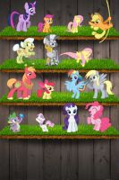 My Little Pony: Friendship is Magic iPod Wallpaper by daughterdragon