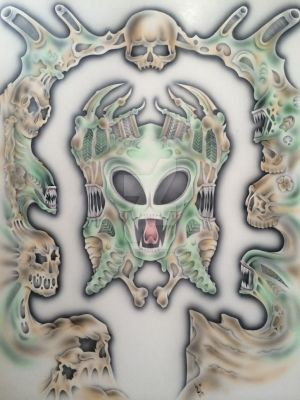 The Guardian Of The Gate by antaresandy. Airbrush. by antaresandy