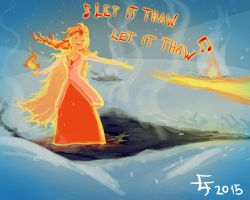 Let It Thaw - Adventure time fan art by edwo