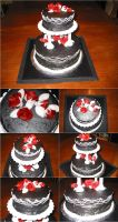 Vampire Wedding Cake by VictoriaCakes