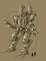 giant mecha by TheUncannyKen