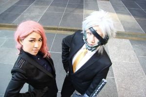 Raiden and Mistral in suits 2 by Cosplay4FunUltimate