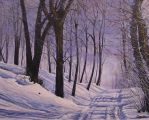 Snowy Road by DanBurgessTheArtist