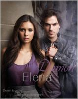 Damon and Elena by jacks-peapod