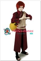Red Naruto Gaara Cosplay by miccostumes