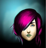 pink hair girl wip by Skuffie