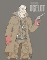 Revolver Ocelot - MGS2 by marcotte