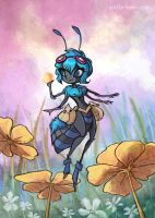 Little Blue Bee by shadeykris