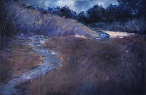 Foreboding- McFarland Hill -OIL PAINTING by AstridBruning