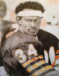 Walter Payton in Mixed Media by thelowsAint