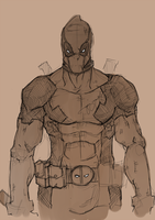 deadpool sketch by satourasshu