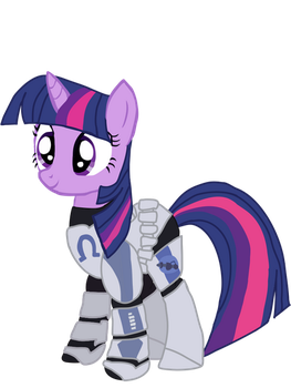 Twilight sparkle as Echo (unicorn) by Ripped-ntripps
