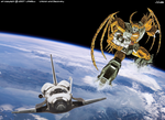 Unicron and Discovery 2 by LittleBuu