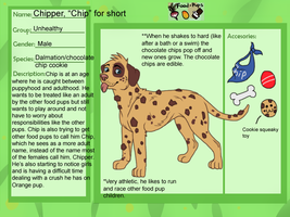 Food Pup- Chocolate chip Cookie by WickedSpecter