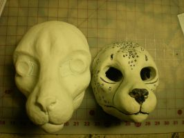feline mask blanks new vs. old by xiamara13
