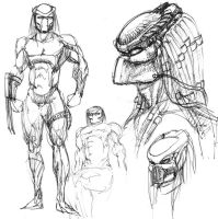 Predator Quick Sketches by ButtZilla