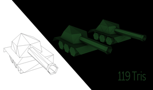 Low poly tank by wiirus