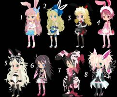 Bunny Girls TTA CLOSED+ by AdoptableSoulxHeart