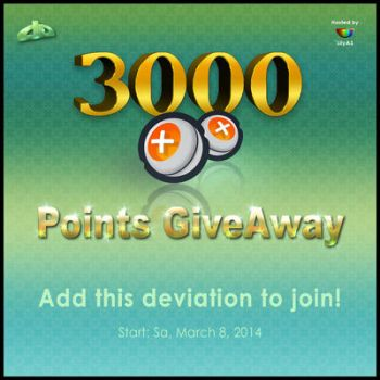 3000 points giveaway!You can win it if you want!:) by SarahThePuppy1