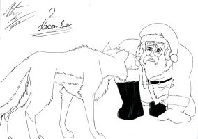Kitara the wolfhound - Dec. 2 by MortenEng21