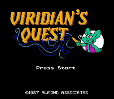 Viridian's Quest title screen by tymime