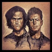 Inktober day 21-Sam and Dean by ARTofANT