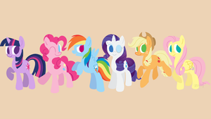 MLP Mane 6 Wallpaper by Zoiby